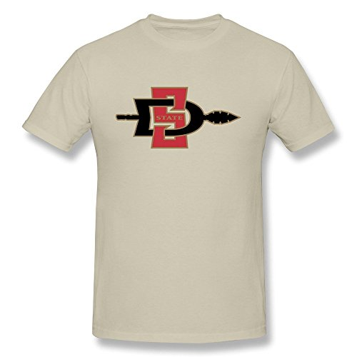 LLangla Men's San Diego State University T Shirt (Mississippi Cycling Jersey)