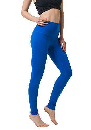 Matymats Yoga Pants for Women Gym Running Workout Leggings Performance Tights Pure Blue