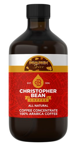 Pumpkin Spice Cold Brew Iced Coffee - Hot Coffee - Liquid Java Concentrate 4 Ounce Bottle (16 Ounce)