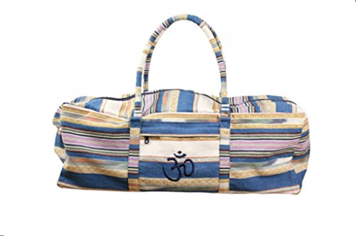 Yoga Matte Tasche, Kit Tasche, Turnbeutel, Weekend Bag, Sport Tasche, Equipmenttasche, Multi Handtaschen Bag, Blau gestreift