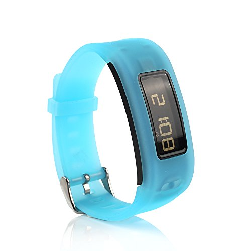 Jelly Band Adjustable - honecumi Silicone Rubber Watch Bands Replacement Accessory for Garmin Vivofit Multiple Colors with Metal Buckle Watch Strap/Bracelet Wristband Only for Garmin Vivofit Smartwatch (No Fitness Tracker)