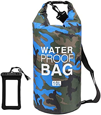 Beach Swimming Loovit Waterproof Dry Bag 2L//5L//10L//15L//20L//30L Boating Camping Roll Top Sack Keeps Gear Dry for Kayaking Hiking Fishing with Free Waterproof Phone Case Rafting