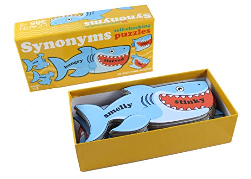 (Curious Minds Busy Bags Shark Synonyms Word Matching Puzzle- Elementary Language Arts Teacher Supply - Spelling Writing)
