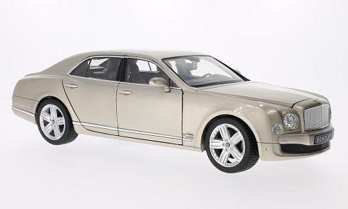 Bentley Mulsanne, metallic-beige, 0, Modellauto, Fertigmodell, Rastar 1:18