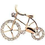 キラキラ 光る 可愛い 銅 自転車 ブローチ