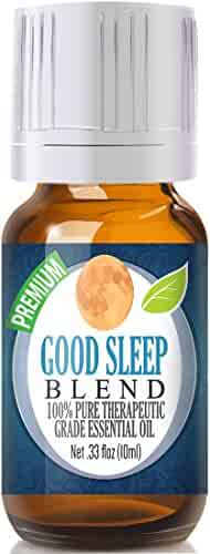 Good Sleep Essential Oil - 100% Pure, Best Therapeutic Grade - 10ml - Includes Clary Sage, Copaiba and Lavender