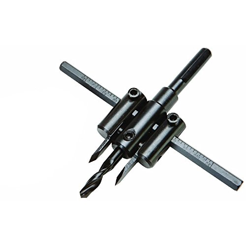 7/8''-5'' Adjustable Circle Hole Cutter Wood Drywall Drill Bit Saw Round Cutting by Drill Bits (Image #2)