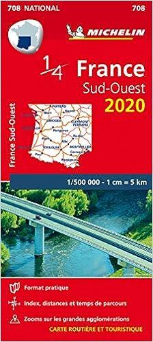 Mapa National France Sud-Ouest 2020 Mapas National Michelin ...