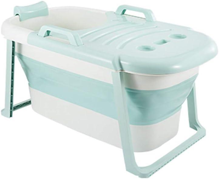 ポータブル折りたたみ式浴槽、大人用浴槽、折りたたみ式子供用シャワートレイ、快適な折りたたみ式ベビー用浴槽、子供用プラスチック製浴槽、浴槽、2色、65 * 117 * 60cm(色:緑)