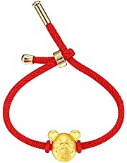 MONIYA Chinese Zodiac Sign Mouse Red String Bracelet for Women Year of Rat Mascot Good Luck Symbol Jewelry