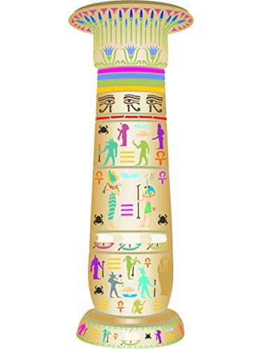 "Egyptian Pillar Stencil - (size 28""w x 78""h) Reusable Wall Stencils for Painting - Best Quality EGYPTIAN Ideas - Use on Walls, Floors, Fabrics, Glass, Wood, Terracotta, and More… by Stencils for Walls"