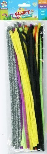 50 x Kids Mixed Colours Glitter Chenille Pipe Cleaners Stems Art Craft 12