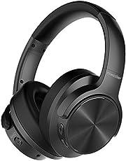 Mixcder E9 Casque Bluetooth à Réduction de Bruit Active Circum Écouteurs ANC sans Fil Stéréo avec Basses Profondes (Dual Pilotes de 40mm, Bluetooth CSR, Earpads Confortables, 30h de Jeu)