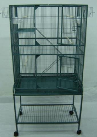 New Large Wrought Iron Bird Parrot Cage Cockatiel Conure Large 30x18x62...