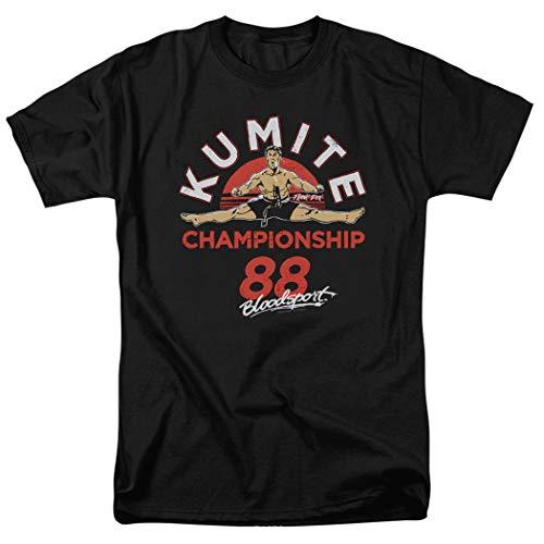 Bloodsport Jean-Claude Van Damme Martial Arts Movie T Shirt & Stickers (XXXX-Large) Black