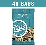 Kar's All Energy Unsalted Trail Mix 2 oz Single Serving Bags - Peanuts, Banana Chips, Raisins, Sunflower Kernels, Peanuts, Dates, Mangos & Almonds (Pack of 48)