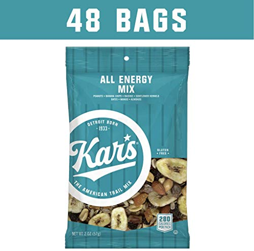 Kar's All Energy Unsalted Trail Mix Snacks - 2 oz Single Serving Bags (Pack of 48)