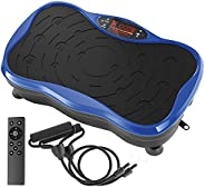 Belmint Vibration Plate Exercise Machine - Mini Fitness Board with 2 Resistance Bands - Home Training Equipmen