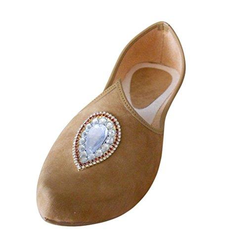 fait traditionnel Creations kalra main Marron indien Parti en hommes Chaussures velours de Sxq6Z