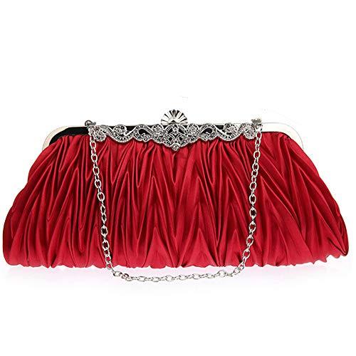 Women's Evening Handbags,YuhooSUN❤️ Vintage Style Pleated Elegant Evening Bag Wedding Party Handbag Clutch Purse ()