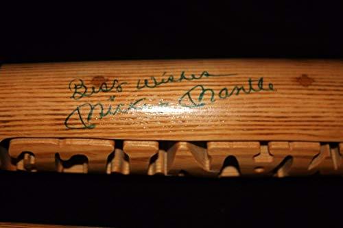 Mickey Mantle Autographed Signed Inscribed Broken Batsmith Carved Baseball Bat - JSA Certified Memorabilia