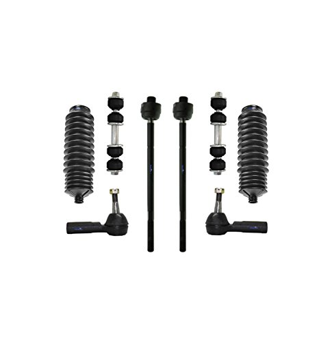 PartsW 8 Pc New Suspension Kit for Buick Cadillac Oldsmobile Pontiac/LeSabre Lucerne Park Avenue Riviera DeVille DTS Seville Aurora Bonneville Tie Rod End & Sway Bars, Rack and Pinion Bellow Boot