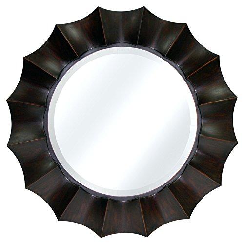Allen + Roth 29.87-In X 29.87-In Oil-Rubbed Bronze Round Framed Mirror