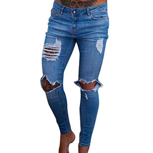 Uomini Mode Abbottonatura Gli Della Lavato Chiusura Bolawoo Vita Distrutti Di Jeans Slim Etero Metà Marca Hellblau Beggar Pantaloni f5qOAWPO