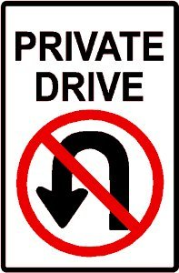 amazon com private driveway no turn around sign yard signs