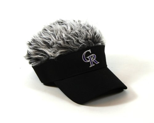 MLB Colorado Rockies Flair Hair Adjustable Visor, Black ()