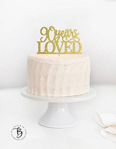 Decoración para tarta de 90 años, decoración para 90 ...