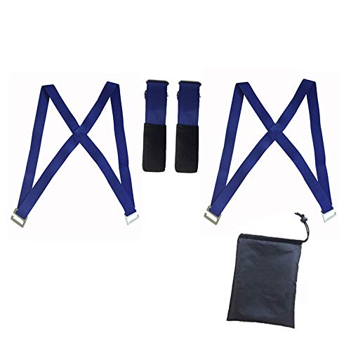Shoulder double lifting and moving system - Easily move, lift, carry and protect furniture, electrical appliances, heavy objects without back pain! 2 porters' belts and seat belts - a great tool for a by Lightlamp