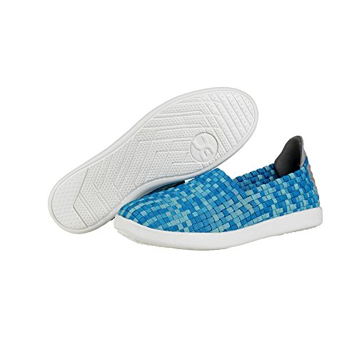 Dude Shoes Womens E-last Simple Turquoise Fade Slip On Blue & Green