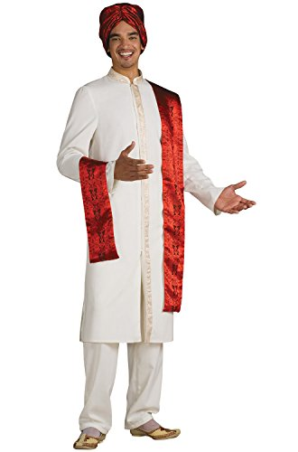 Bollywood Costumes Men (Bollywood Guy Costume Adult - light yellow - Fits up to 44 jacket size)