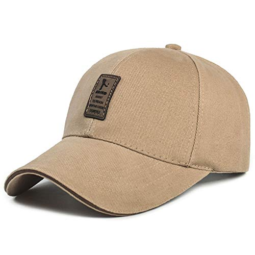 WOFDDH Baseball Cap,Fashion Men Women Adjustable Baseball Cap Solid Color Casual Snapback Retro Sports Sun Visor,Khaki