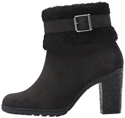 Fold Boot Down Nubuck Timberland Fleece Glancy Teddy Women's Black wxPPYqIUX