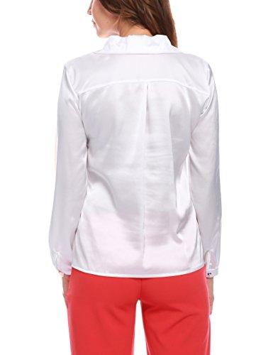 Taschino Chemisier Manica Femme Blanc Bottoncini Lunga Isabella Chiusura Con Roma Camicia E za7a8B