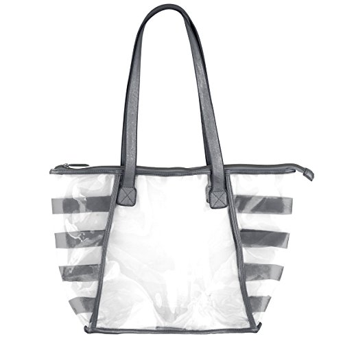 (Karma Gifts Gold Rush Clear Tote, Charcoal)
