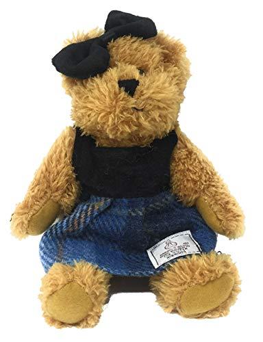 - Harris Tweed Blue Tartan Dressed Scruffy Girl Bear