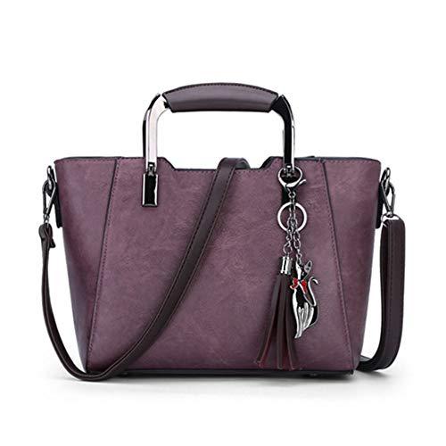 à Tout pour Sac À sac Dos QZTG Femmes main À Zipper Violet Main Gris Violet PU Sacs Fourre Bandoulière Sacs À Marronsacs 5Z8wInq