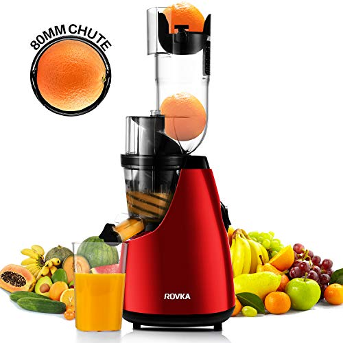 ROVKA Slow Masticating Juicer Extractor, 3.16 Inches Wide Chute Cold Press Juicer for Easy Juice and Clean, High Juice Yield for Fruit and Vegetable