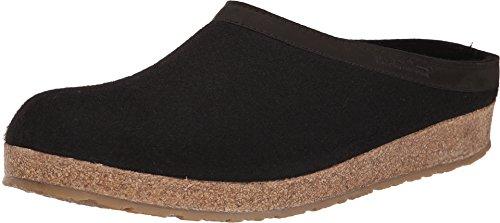 Haflinger Leather Shoes (Haflinger GZL Clog,Black,43 EU/Women's 12 M US/Men's 10 M)