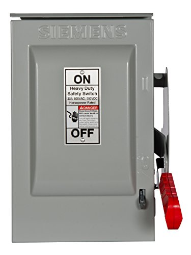 600v Safety Switch - Siemens HNF361R 30-Amp 3 Pole 600-volt 3 Wire Non-Fused Heavy Duty Safety Switches