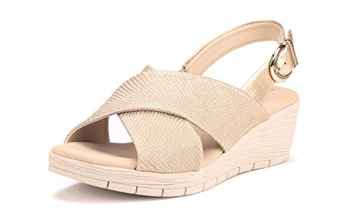FLEXX Sandalo Donna Ambiguous Beige The Zeppa 6wqYBd4O4x