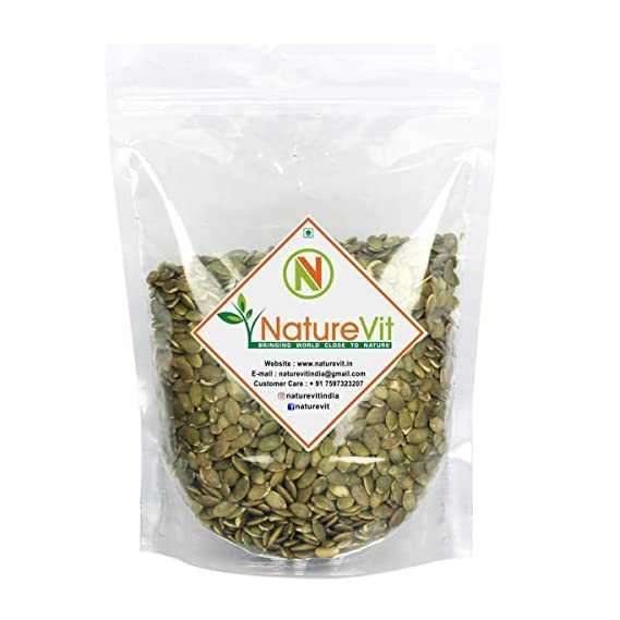 NatureVit Raw Pumpkin Seeds for Eating - 400 Grams