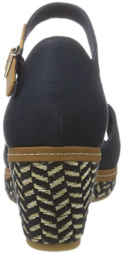 Tommy Hilfiger Women's E1285lba 31d Wedge Heels Sandals Blue (Midnight 403) 0DRnlmXNRA