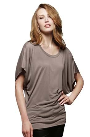 Bella - Ladies' Flowy Rage Sleeve Dolman T-shirt,2X-Large,Pebble Brown