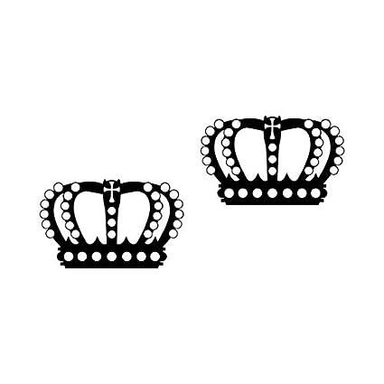 2 Piezas Corona 12cm negro Rey Reina Pegatine Tatuaje die cut ...