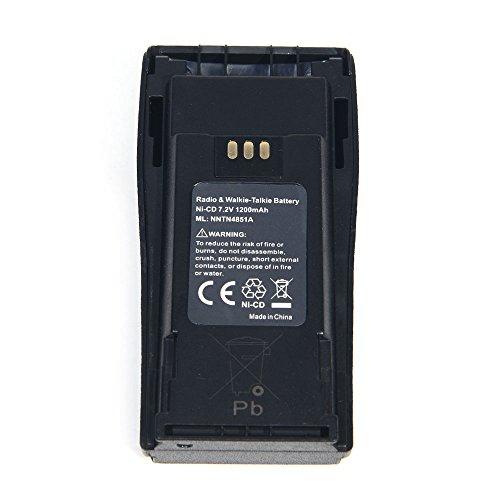 Masione 7.2V 1200mAh Ni-CD Portable Two-Way Radio Interphone Battery NNTN4496 NNTN4496AR NNTN4851 NNTN4851A for Motorola CP040 CP140 CP150 CP160 CP180 CP200 CP200XLS CP340 CP360 CP380 EP450 PR400 -