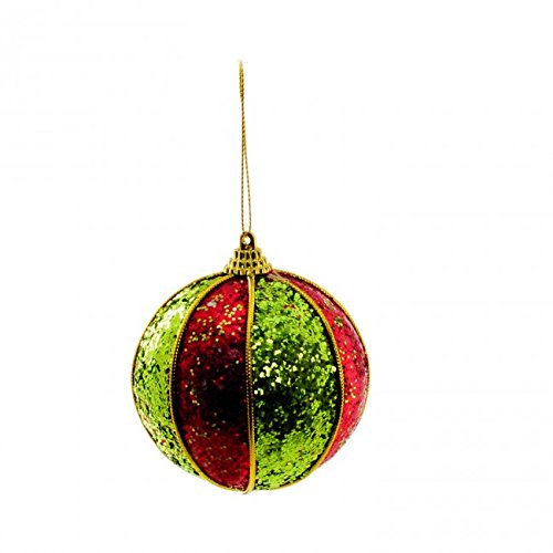 Bolas Arvore de Natal Verde Vermelho - 6 Unidades 10 Cm